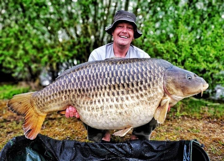 62lbs8 common caught at Charlie Lake in May 2019